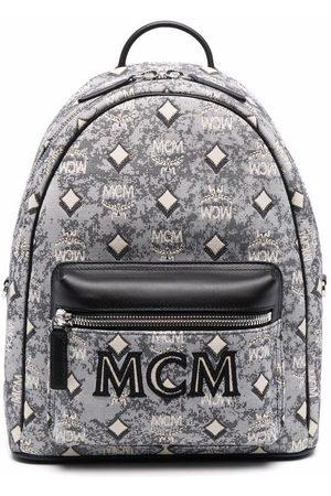 MCM Vintage jacquard monogram backpack - Grey