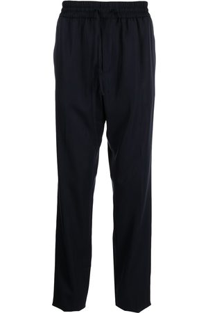 Versace Men Straight Leg Pants - Elasticated-waist straight-leg trousers
