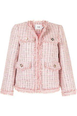 B+AB Fitted tweed jacket