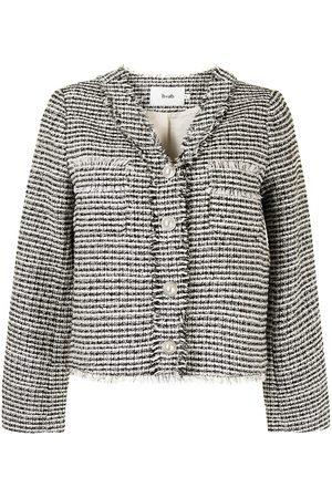 b+ab Striped tweed jacket - Multicolour