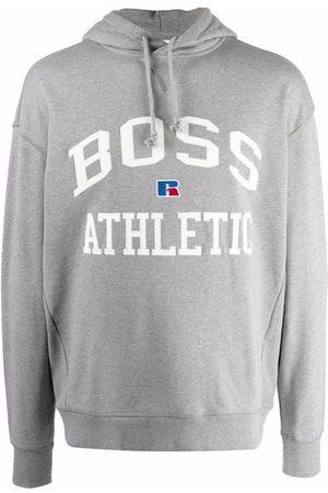 Boss Hugo Boss Logo-print pullover hoodie - Grey