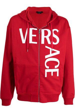 Versace Men Hoodies - Logo-print zip-up hoodie