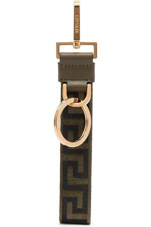 VERSACE Greca-pattern clasp-fastening keyring