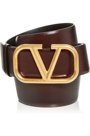 Valentino Garavani Men Belts - Men's Logo Buckle Leather Belt