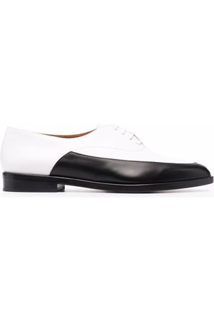 Clergerie Two-tone leather lace-up shoes