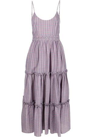 Cinq A Sept Women Printed Dresses - Stripe-print sleeveless dress