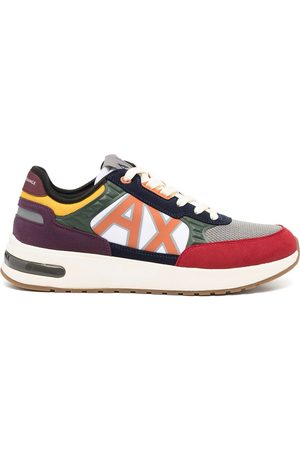 Armani Exchange Logo-patch low-top sneakers - Grey