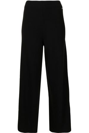 Armani Exchange Women Wide Leg Pants - High-waisted wide-leg trousers
