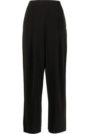 Armani Exchange High-waisted wide-leg trousers