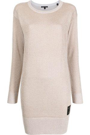 Armani Exchange Long-sleeve jumper dress - Neutrals