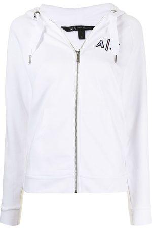 Armani Exchange Logo drawstring hoodie