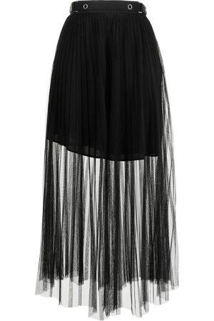 Armani Sheer-panel maxi skirt