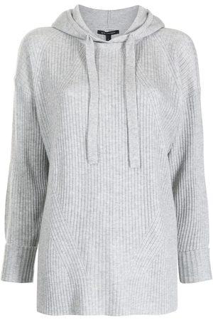 Armani Drawstring hooded jumper - Grey