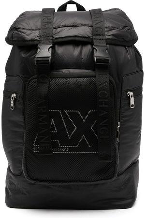 Armani Logo-print padded backpack