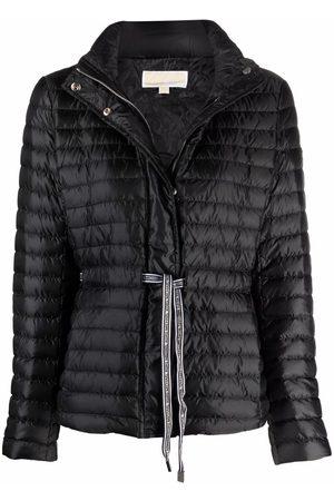 Michael Kors Women Puffer Jackets - Logo tape-detail padded down jacket