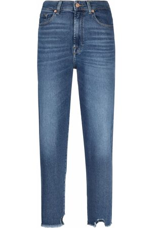 7 for all Mankind Women High Waisted - High rise cropped jeans