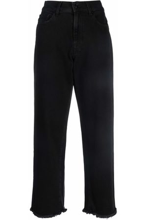 7 for all Mankind Women Straight - Cropped straight-leg jeans