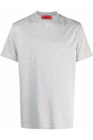424 Finished-edge cotton T-Shirt - Grey