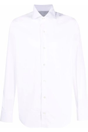 Eleventy Spread-collar formal shirt