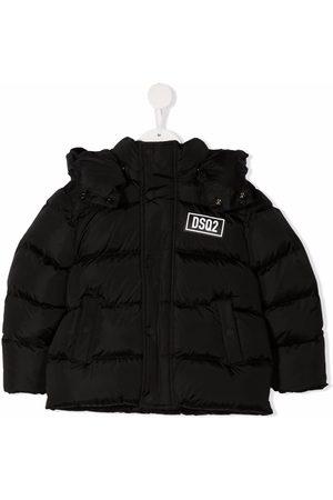 Dsquared2 Kids Boys Puffer Jackets - Padded logo-patch jacket