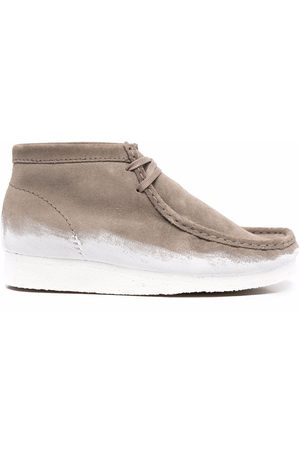 Clarks Originals Wallabee paint-dipped boots - Neutrals