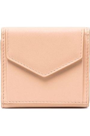 Maison Margiela Signature four-stitch foldover wallet - Neutrals