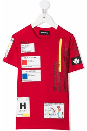 Dsquared2 Boys Short Sleeve - Patch-detail short-sleeved T-shirt