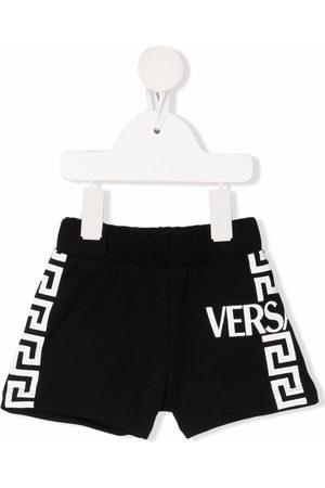 Versace Kids Greca-print track shorts