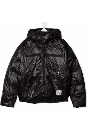 Nº21 Kids TEEN logo-patch hooded jacket