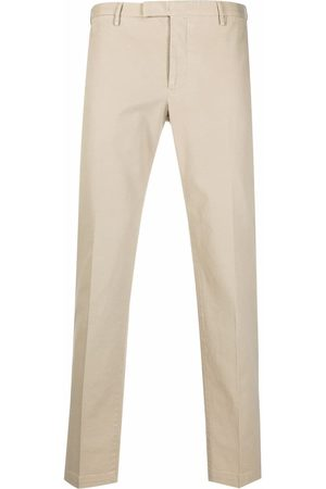 PT01 Pressed-crease cotton tailored trousers - Neutrals