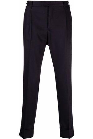 PT01 Pleat-detail turn-up hem tailored trousers