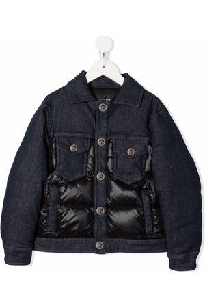 VERSACE Boys Denim Jackets - Padded button-up denim jacket