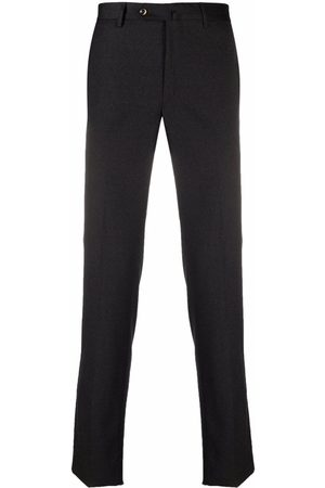 PT01 Pressed-crease slim-fit tailored trousers - Grey