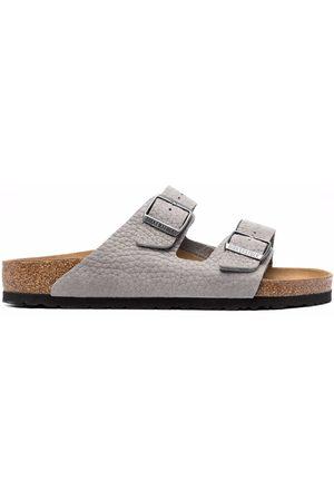 Birkenstock Pebbled-texture double-strap sandals - Grey