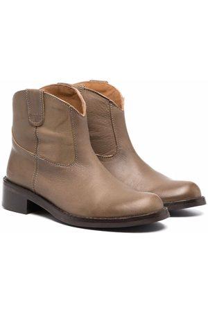 Bonpoint Leather cowboy boots