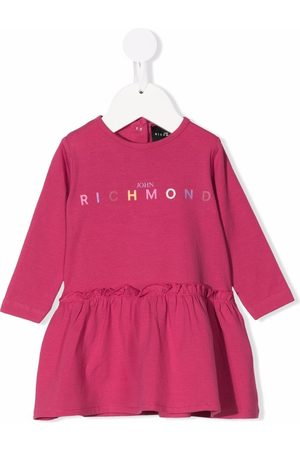 John Richmond Junior Logo-print sweater dress