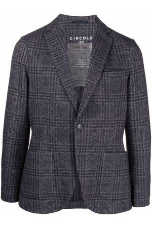 Circolo 1901 Check-print single-breasted blazer