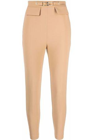 Elisabetta Franchi Slim-fit cropped trousers - Neutrals