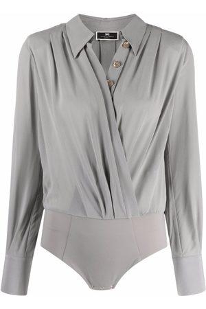 Elisabetta Franchi Wrap-style bodysuit - Grey