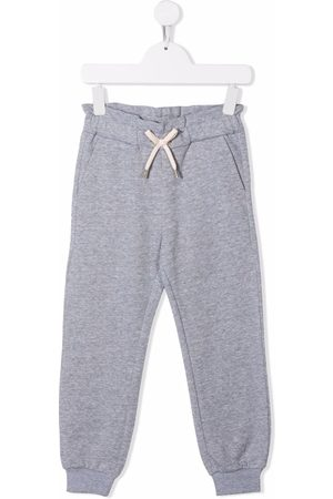 Chloé Kids Drawstring-waist track pants - Grey