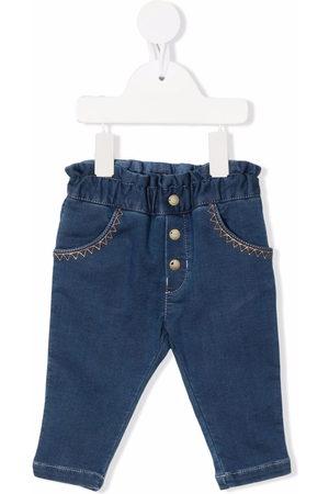 Chloé Kids Stitch-detail denim jeans