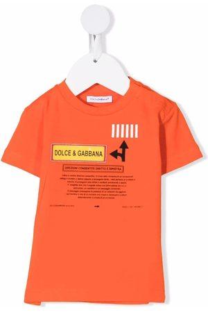 Dolce & Gabbana Kids Patch-detail short-sleeved T-shirt