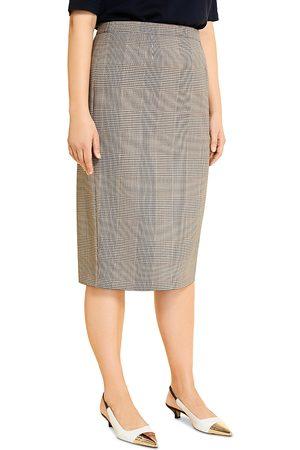 Persona by Marina Rinaldi Women Printed Skirts - Cannes Check Print Pencil Skirt
