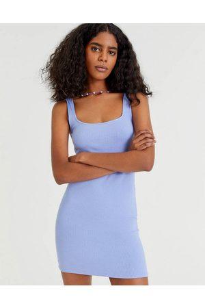 Pull&Bear Women Sleeveless Dresses - Sleeveless dress in blue-Blues