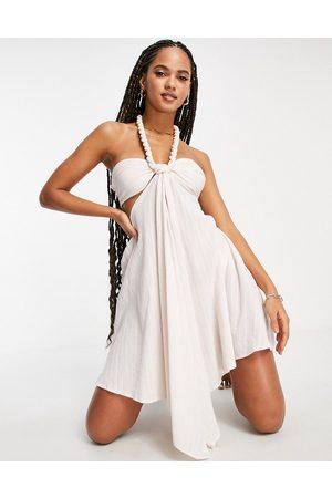 ASOS Women Beach Dresses - Twist neck detail beach dress in