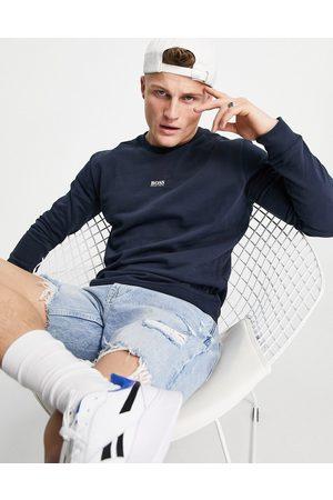 HUGO BOSS Men Hoodies - Weevo 2 crew neck sweatshirt in navy