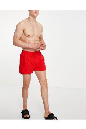 ASOS Swim shorts with pin tuck in bright short length