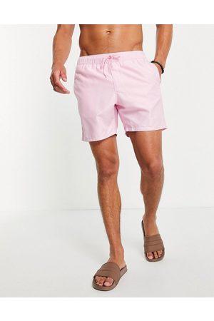 ASOS Swim shorts in pastel mid length
