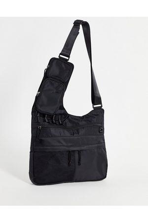 ASOS Men Bags - Cross body bag with modular clip off pouches in nylon