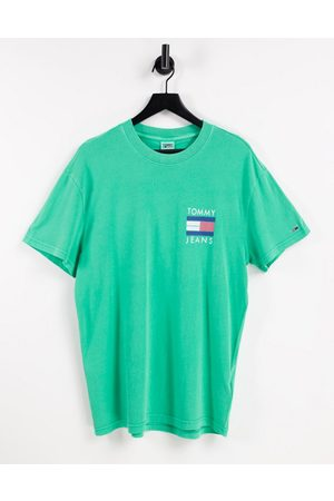 Tommy Hilfiger Front flag & back palm tree logo print t-shirt in